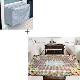JBG Home Store Combo of Centre Table Cover and AC Cover