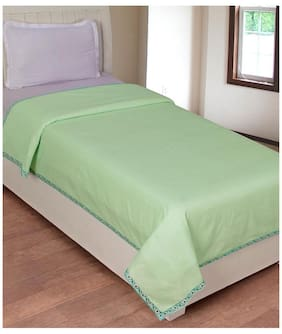 JBG Home Store Floral Bordered Cotton Top Covering Sheet - Set of 2