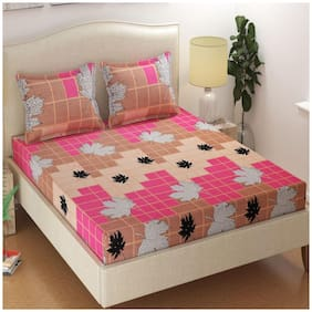 JEBY Cotton Abstract Double Size Bedding Set