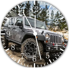 Jeep Wrangler Off  Road Frameless Borderless Wall Clock For Gifts or Decor E216