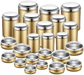 JENSONS 20550 L Golden Stainless steel Container Set - Set of 24