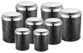 JENSONS 10400 L Black Stainless steel Container Set - Set of 8