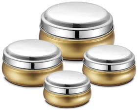JENSONS 1650 L Golden Stainless steel Container Set - Set of 4