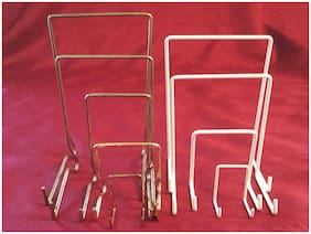 JES Co England White Nylon Coated or Brassed Display Stands Diff Sizes Available