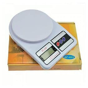JICKY  Plastic Electronic Kitchen 10-kg Digital Weighing Scale (White)