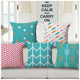 Jim-Dandy Digital Printed Cushion Cover-Set of 5