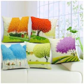 Jim-Dandy Digital Printed Cushion Cover-Set of 5