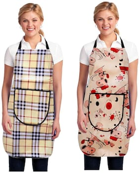 Jim-Dandy Polyester Apron Multi ( Pack of 2 )