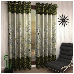 Jim-Dandy Set of 4 Beautiful Polyester Long Door Curtains