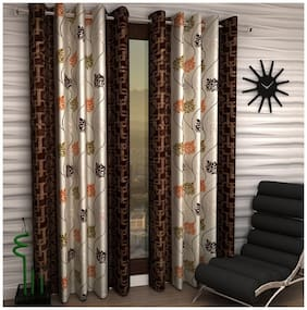 Jim-Dandy Set of 2 Beautiful Polyester Door Curtains