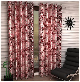 Jim-Dandy Set of 6 Beautiful Polyester Long Door Curtains
