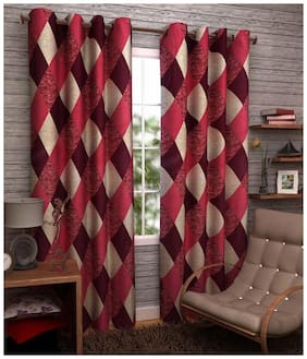 Jim-Dandy Set of 8 Beautiful Polyester Long Door Curtains