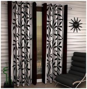 Jim-Dandy Set of 4 Beautiful Polyester Long Door Curtains