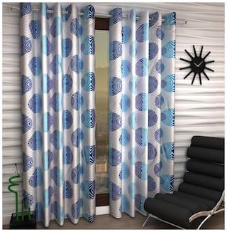 Jim-Dandy Set of 2 Beautiful Polyester Long Door Curtains