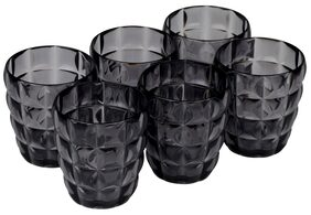 JM GROUP  Jaypee Plus Swizz Plastic Microwave Glass Set, 350 ml/5 cm, 6-Pieces