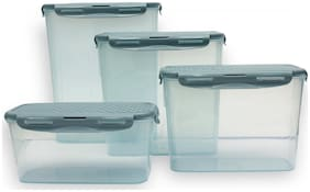 JM GROUP 4000 ml Assorted Plastic Container Set - Set of 4
