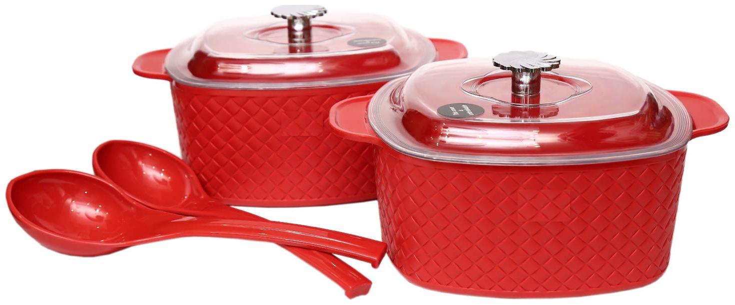 JM GROUP Jaypee Plus Plastic BOWLS/ DONGA Festiva Casserole Twin Set