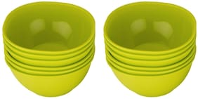 JM GROUP Jaypee Plus Le Dinner Plastic Snack Bowl Set, 250ml/10cm, Set of 12 (MICROWAVE SAFE )