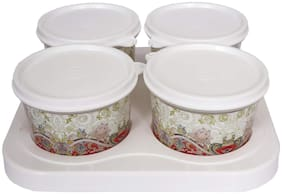 JM GROUP SERVE 4 BOWLS AND TRAY
