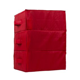 JMD Creation Red 3 Compartment Drawer