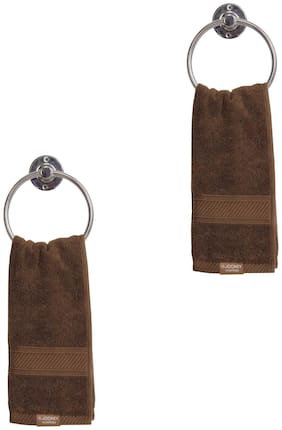 Jockey 450 GSM Cotton Hand towel ( 2 pieces , Brown )