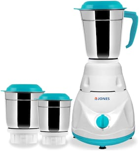 Jones MIST PRO 600 W Mixer Grinder ( White , Blue  With 3 Jars )
