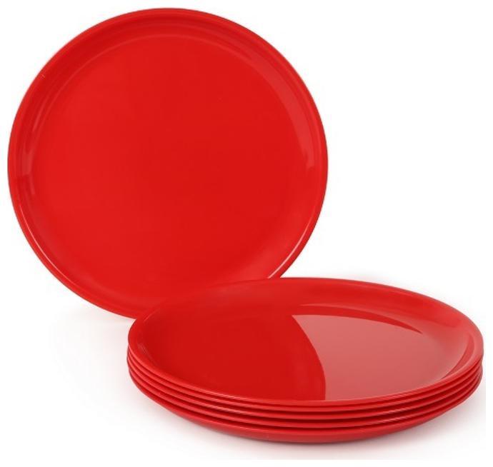 Joy Home Microwave Safe Full Plates 6 pcs;Round;Cherry