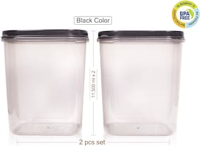Joyo 12000 ml Grey Plastic Container Set - Set of 2