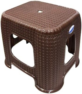 Joyo Plastic 4 Steps Stools ( Brown , Front Step )