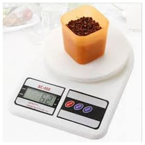 JS Electronic Digital 10 kg Weight machine for measuring fruits,Spice,Food,Vegetable And More (Sf-400) Weighing Scale 389