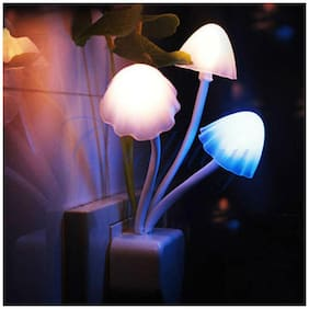 js LED Mushroom Night Lamp Wall Light Day Night Sensor Control Bed Lamp Bedroom Lamp