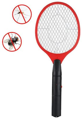 RJ Rechargeable Mosquito Bat & Racket With Led Torch