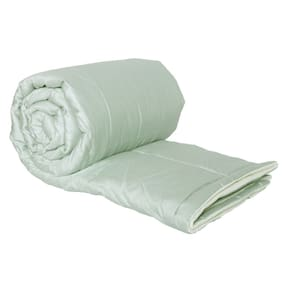 Just Linen 500 TC 100% Cotton Sateen Solid;Silver Color;Single Size AC Comforter