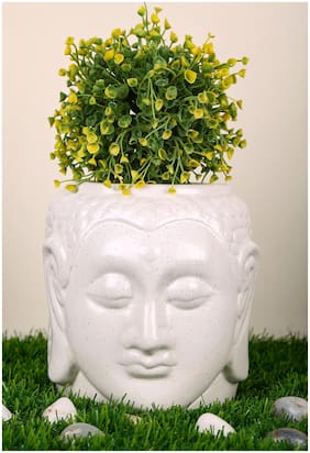 Just Originals Medium Buddha Shape Ceramic Flower Pot