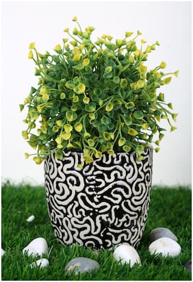 Just Originals Medium Tumbler Shape Ceramic Flower Pot with RD Print