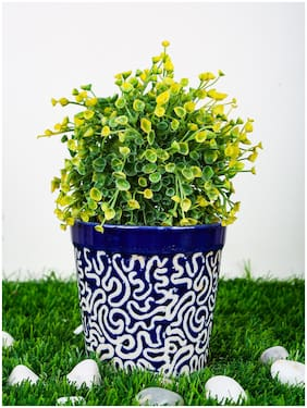 Just Originals Ashwani Design with RD Print Small Ceramic Flower Pot