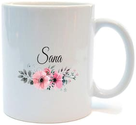 Juvixbuy Happy Birthday Sana Printed Ceramic Coffee Mug