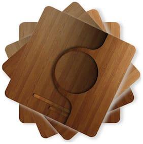 Juvixbuy Printed Wooden Coasters 82 (Set of 4)