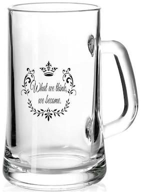 Juvixbuy What we think we become Printed Juice /Milk/ Cold Drinkds &  Beer Glass Mug