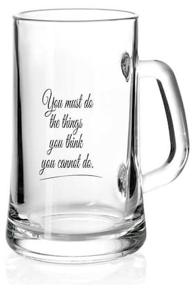 Juvixbuy You Must do the thing you think you cannot do Printed Juice /Milk/ Cold Drinkds &  Beer Glass Mug