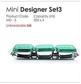 JVL Mini Designer Bowl Set, 3-pcs
