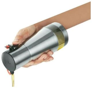 JVL OLF500 Kitchen Stainless Steel Oil Stoppers Pourers Dispenser - 500 ml