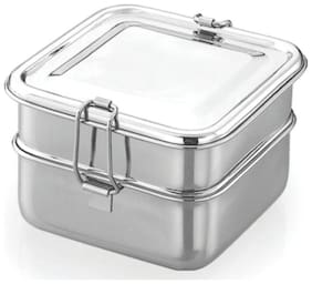 JVL 2 Containers Stainless steel Lunch Box - Assorted