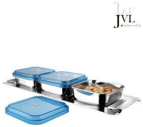 JVL Store & Serve 3 Pcs Square Box Set With A Tray