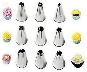 k kudos enterrise Set Of 9 Russian Nozzles Cake Nozzles Cake Decoration Pastry Nozzle