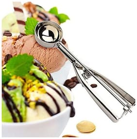 k kudos enterprise Stainless Steel Ice Cream Scoop Multi Use Food Spoon ( small size) pack of 1