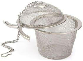 k kudos enterprise Stainless Steel Tea Filter Infuser, 6.5cm, Silver ( pack of 1 )