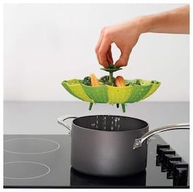 K Kudos Lotus Steamer Basket for Steaming Food and Vegetable Folding Non-Scratch BPA-Free