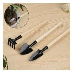 K kudos Mini Plant Garden Tools Wooden Handle Gardening Shovel Rake Small Shovel/Rake/Spade