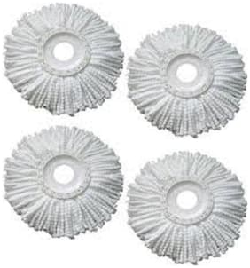 K Kudos Replacement Micro Mop Head Refill For Standard Universal Spin Mop 4pc